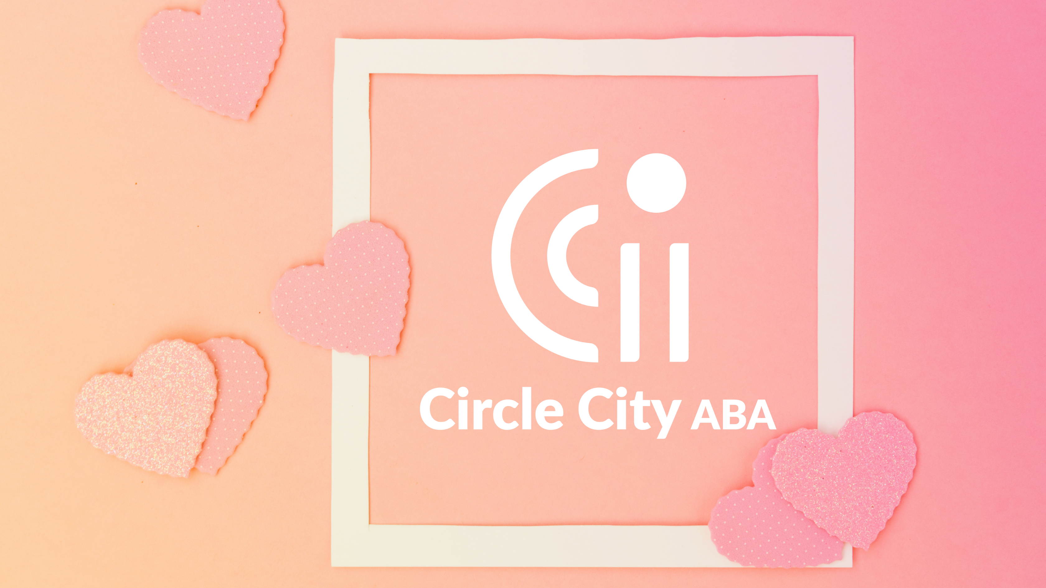 orange pink gradient with hearts and circle city aba logo